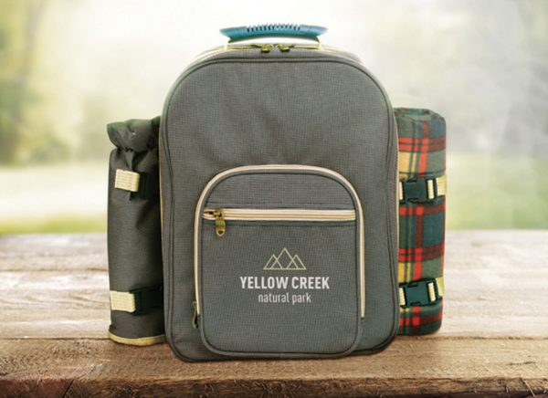 Branded picnic backpacks