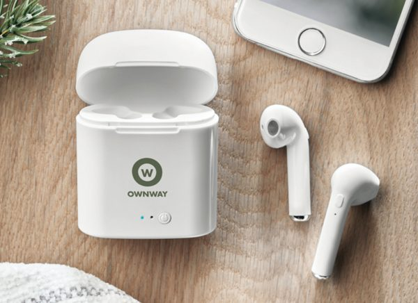 Branded earbuds