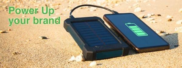 Solar promotional power banks