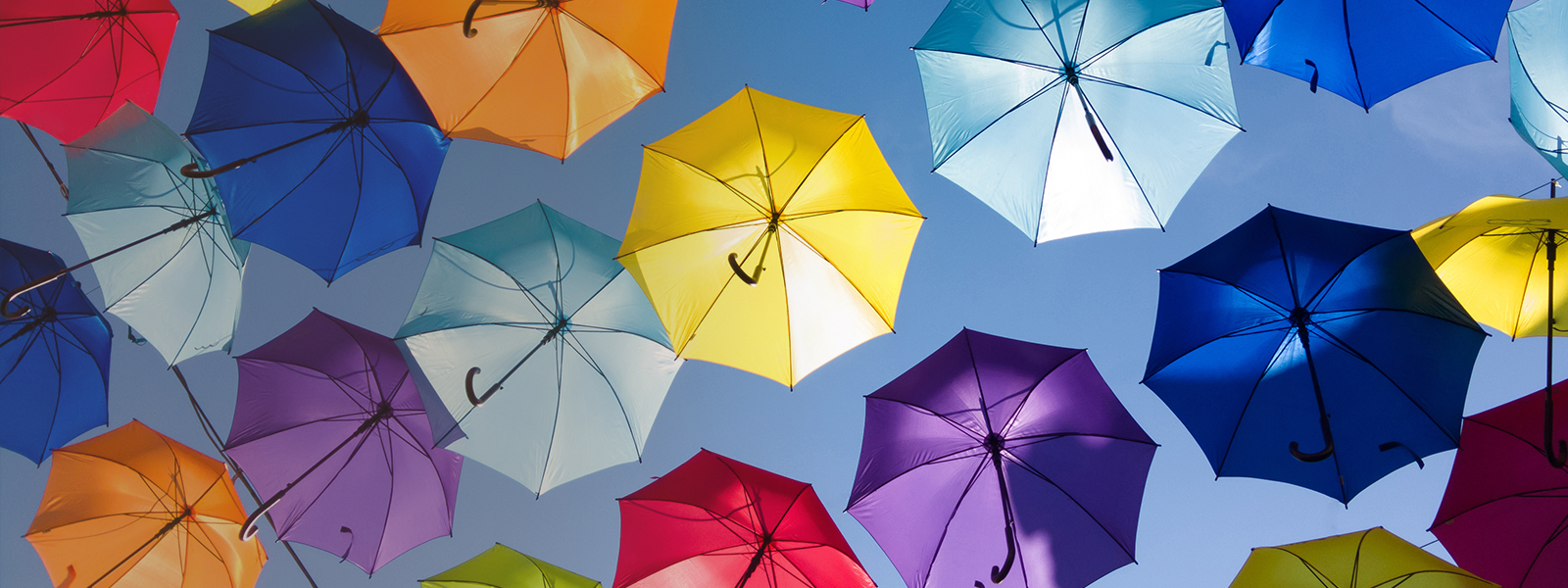 Umbrellas...to get noticed - All shapes and sizes. Single colour print to full colour